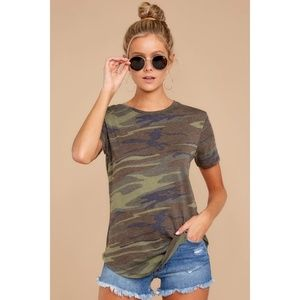 Z Supply The Ultimate Camo Crew Tee Camouflage S